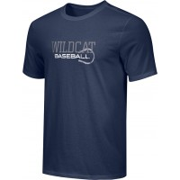 Wilbur Baseball 08: Youth-Size - Nike Combed Cotton Core Crew T-Shirt - Baseball Logo